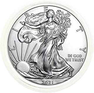 2021 American Silver Eagle .999 Fine Silver in Direct Fit Air Tite with our Certificate of Authenticity Dollar Uncirculated US Mint