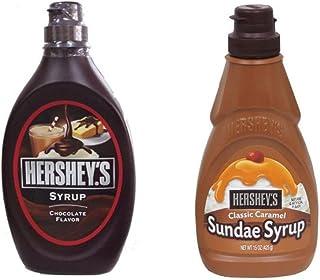 【セット品】Hershey ハーシー シロップ2種セット(チョコレートシロップ 623g・キャラメルシロップ 425g)各1本