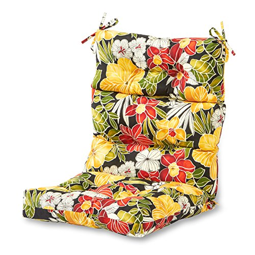 Greendale Home Fashions AZ4809-ALOHA-BLACK Aloha 44'' x 22'' Outdoor Seat/Back Chair Cushion