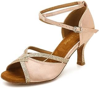 Women Ballroom Dance Shoes Latin Salsa Bachata Performance Sparkly Dance Dancing Shoes