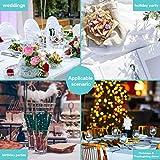 Puricon [6 Stücke] Einweg Tischdecke aus Kunststoff 1,37 x 2,74 M, Premium Rechteckige Tischabdeckung Gartentischdecke für Gastronomie, Feste, Party, Hochzeiten oder Haushalt -Weiß - 5