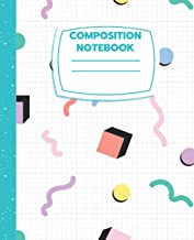90's Retro Themed College Ruled Composition Notebook 7.5x9.25