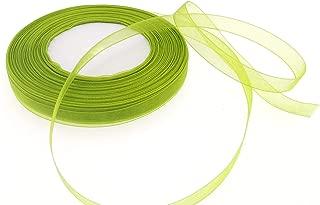 Dxeud Sheer Organza Ribbon (Olive Green, 3/8