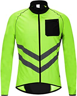 Waterproof Men's Cycling Jackets High Visibility Windbreaker Bicycle Sports Clothing