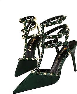 Moquite Donna Sexy Moda Scarpe col Tacco Spillo Alto Sandali Chiuse Davanti Shoes Partito Fibbia con Cinturino Classico Ri...