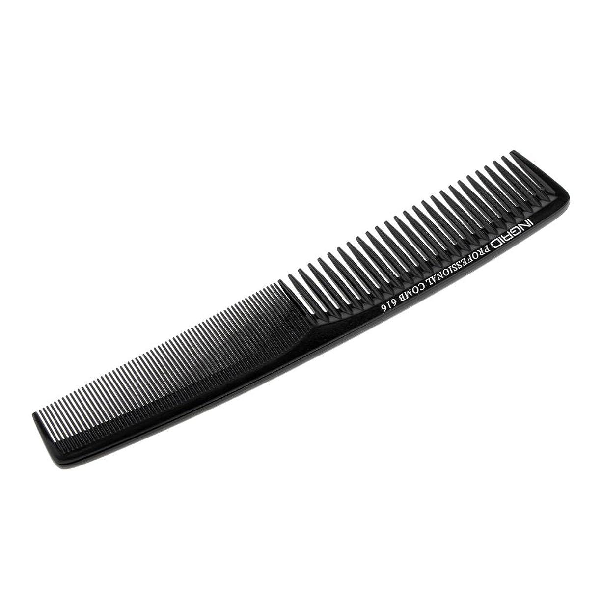 ホイスト乳白色聴覚Homyl ヘアカットコーム 櫛 コーム 理髪店 静電気防止 全5色  - ブラック