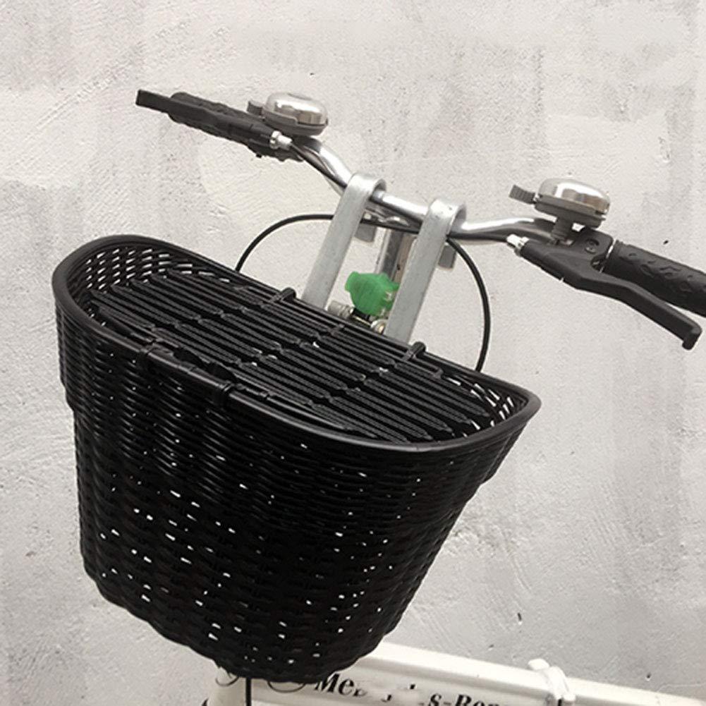 GPFDM Cesta para Bicicleta con Manillar - Cesta De Almacenamiento ...
