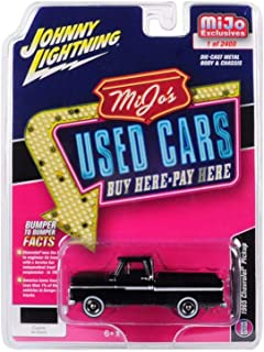 Johnny Lightning 1965 Chevy Pickup Truck, Black with White Stripes JLCP7133-24 - 1/64 Scale Diecast Model Toy Car