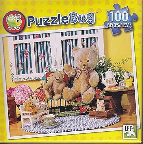 opciones a bajo precio Puzzlebug 100 Piece Puzzle  Teddy Tea Time Time Time by Puzzlebug  hasta un 50% de descuento