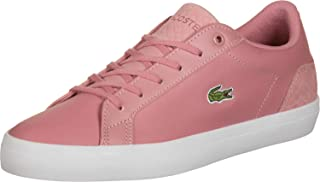 Lacoste Womens Lerond Trainers Sneakers in Pink/White.
