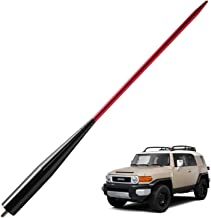 JAPower Replacement Antenna Compatible with Toyota FJ Cruiser 2007-2014 | 13 inches-Black Red
