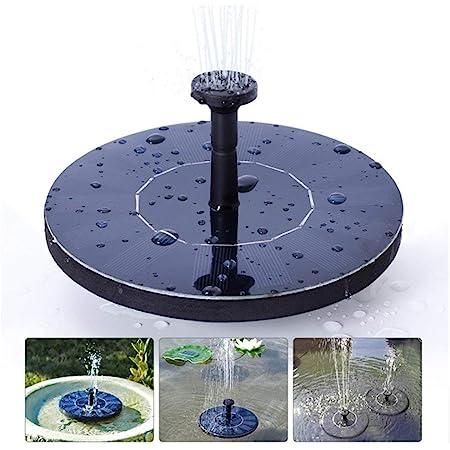 Solar Pump Fountain 5V//1.4W Color Spray Birdbath Solar Fountain with 4 Nozzles For Bird Bath Garden Pond Swimming Pool Outdoor