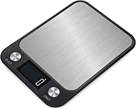 Báscula de cocina Escala de cocina digital de acero inoxidable cocina básculas electrónicas de alta precisión de alimentos B Aking escala pesar básculas de cocina