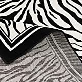 Pergamon Teppich Modern Trendline Schwarz Weiss Zebra in 4 Größen - 3