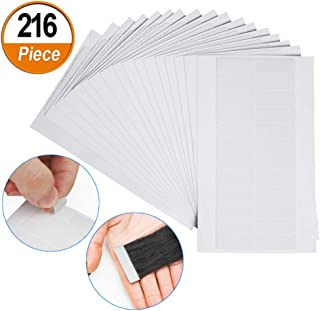 216 Pieces Hair Extension Tape Tabs, Double Sided Adhesive Extension Tapes for Replacement (4 x 0.8cm, Transparent)