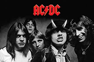 "AC/DC Poster Highway to Hell BW (36""x24"")"
