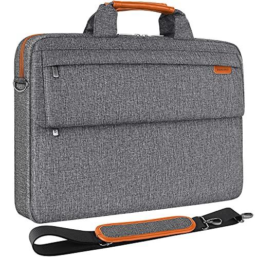 DOMISO 14 Zoll Wasserdicht Laptop Tasche Aktentasche Schultertasche Notebooktasche Umhängetasche für 14