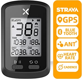 XOSS G+ GPSサイコンサイクリングコンピュータ、バッテリー内蔵 ハンディワイヤレスサイクリングスピードとケイデンスセンサー
