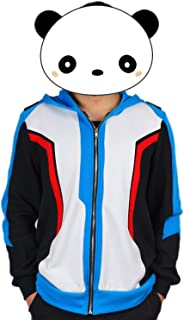 Soldier 76 Blue Hoodie Cosplay Fashion Sweatshirt Cotton Game Cosplay Costume