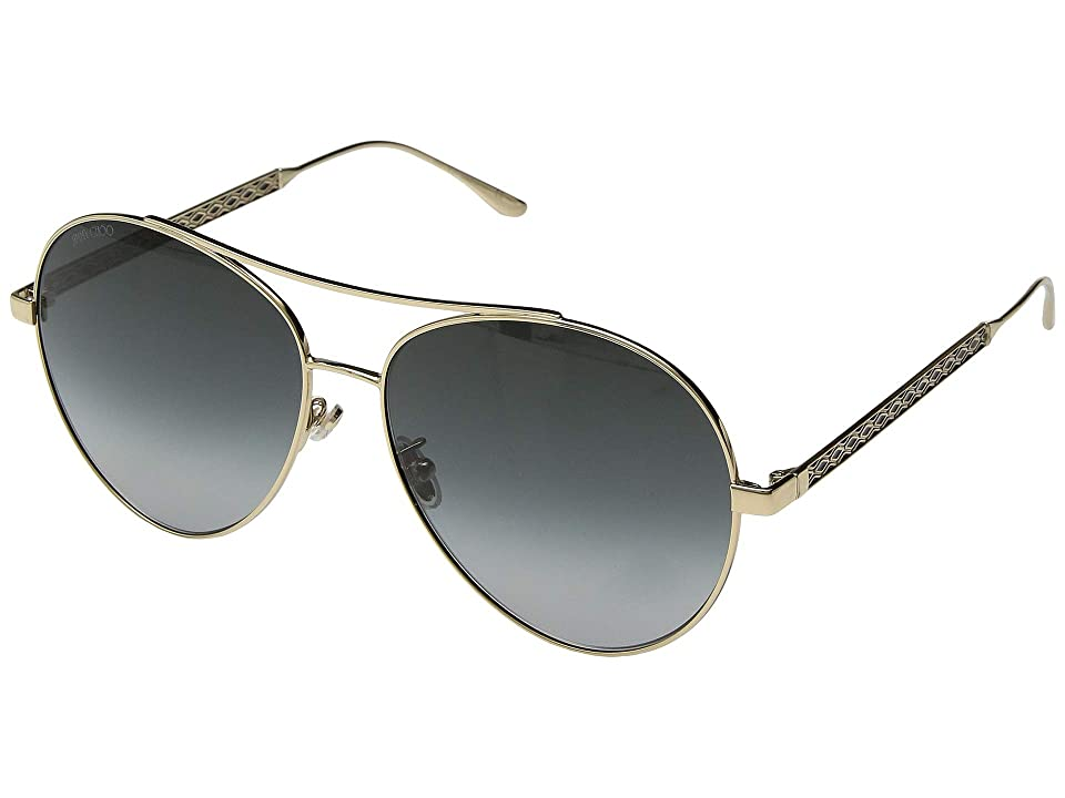 Jimmy Choo Noria/F/S (Gold/Dark Grey Gradient) Fashion Sunglasses