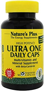 NaturesPlus Ultra One - 90 Easy to Swallow Capsules - High Potency Once Daily Multivitamin & Mineral Supplement, Energy Booster - Vegetarian, Gluten-Free - 90 Servings