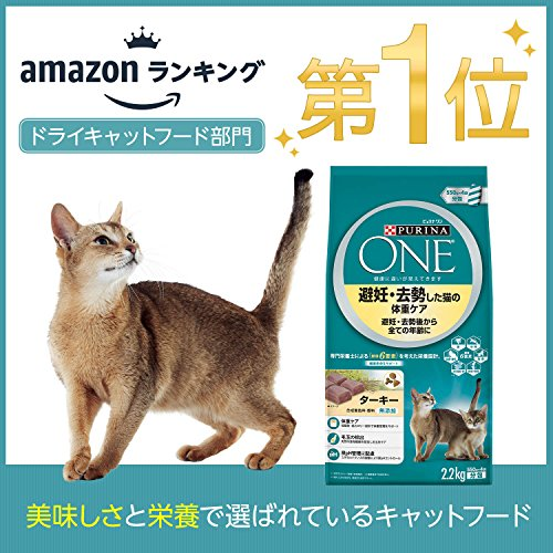 ピュリナワンキャットフード避妊・去勢した猫の体重ケア避妊・去勢後から全ての年齢にターキー2.2kg