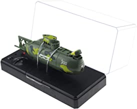 Tipmant Mini RC Submarine Remote Control Boat Ship Military Model Electronic Water Toy Waterproof Diving for Swimming Pool, Fish Tank Kids Gift (Amy Green)