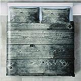 Juego de Ropa de Cama de 3 Piezas 3D Impreso Tablón Microfibra Poliéster Bedding Set con Funda de edredón King Size 260x240cm y 2 Funda de Almohada