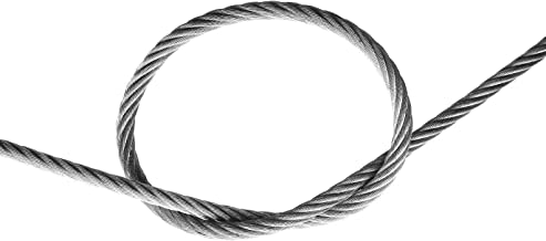 "7/8"" Galvanized Wire Rope Steel Cable IWRC 6x25 (700 Feet)"