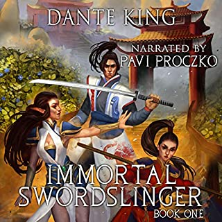 Immortal Swordslinger audiobook cover art