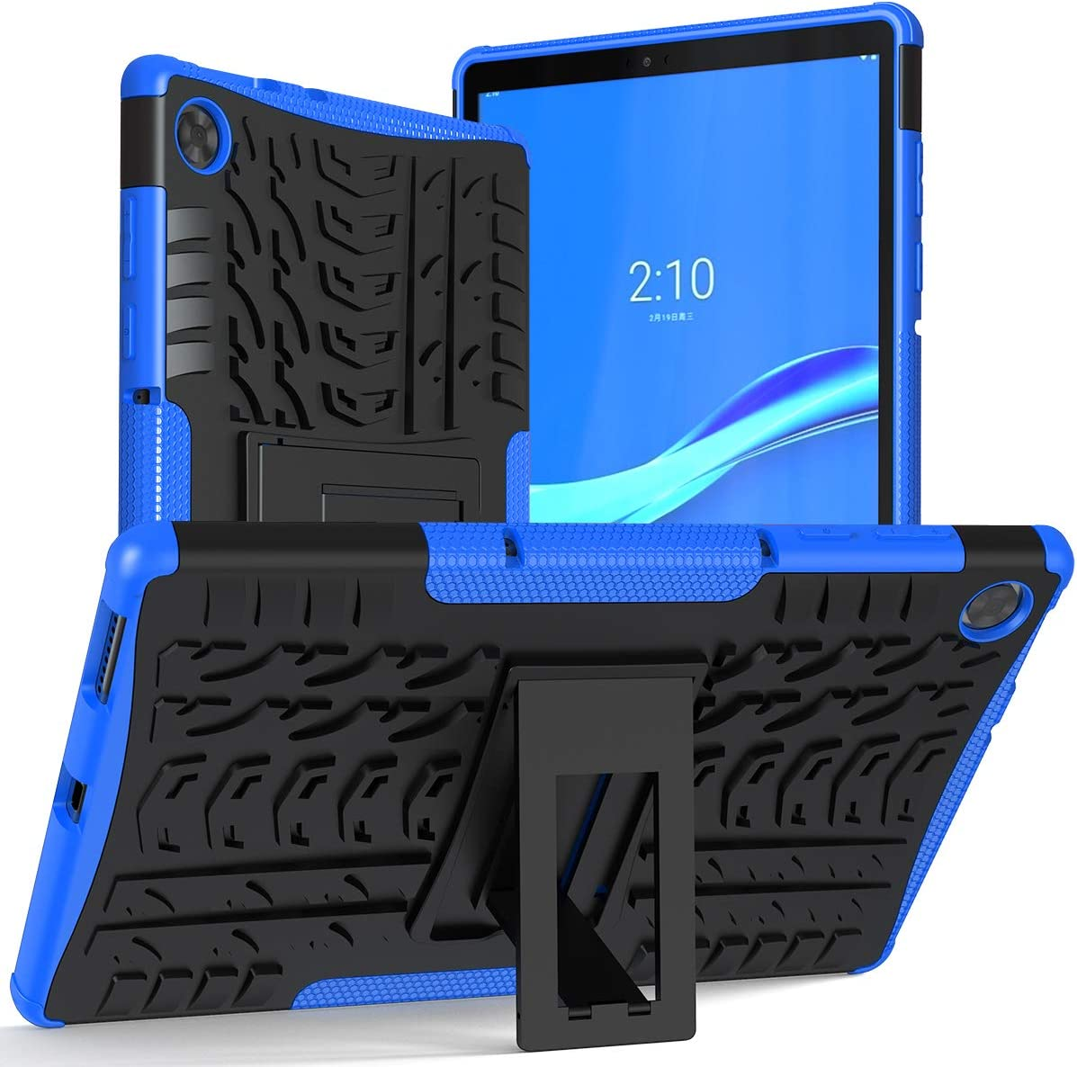 ROISKIN Dual Layer Armor Protective Case Cover for Lenovo Tab M10 HD 2nd Gen Case 10.1 Inch 2020 Model TB-X306F / TB-X306X -Blue