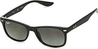 RJ9052S New Wayfarer Kids Sunglasses, Black/Grey...