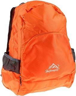 F Fityle Waterproof Nylon Foldable Portable Backpack Travel Bag Rucksack 20L Orange