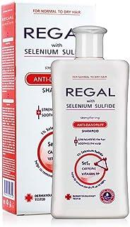 Regal Selenium Sulfide Champú anticaspa fortalecedor para el cabello seco calma el cuero cabelludo y ayuda a eliminar la ...