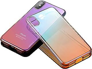 iPhone X 10 cases luxury Mirror Glare effect Transparent light Case