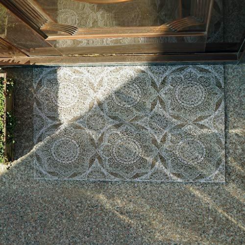 Alfombra nórdica para puerta de casa, con anillo de alambre para la entrada, alfombra de sastrería de pie, alfombra de cocina de lujo (color: D, tamaño: 120 x 150 cm)