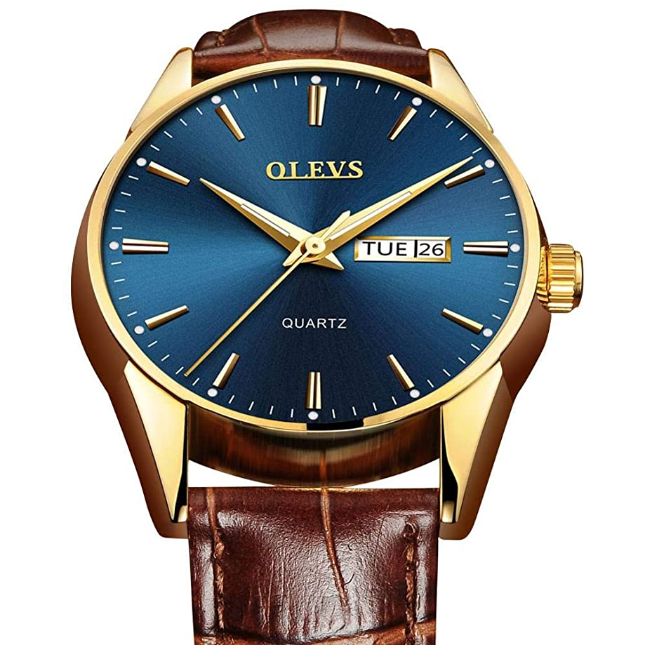 Amazon Watch,Top 1 Men's Leather Watch,Day Date Watches Men,Mens Leather Band Watch,Wrist Watch for Men,Waterproof Business Casual Men Watch with Date…
