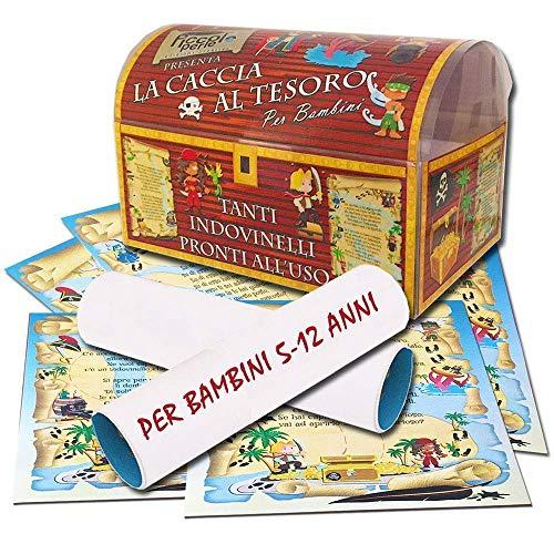 Caccia al tesoro in scatola - scegli tu gli indovinelli - 5-12 anni - per feste di compleanno - giochi per bambini