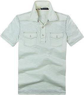 [ハイドロゲン] メンズ ポロシャツ おしゃれ ブランド ドクロ スカル カジュアル 半袖 HYDROGEN B7385 [並行輸入品]