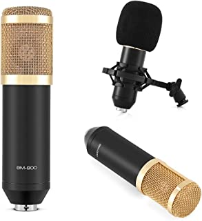 Tihebeyan Cardioid Condenser Microphone BM-900 Kit, Podcast Recording Microphone with Stand Professional Condenser Studio ...