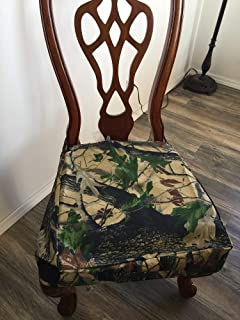 OctoRose Oxford Camo Design with Anti-Slip Backing Set of Two Chair Covers Chair Seat Covers (Oxford-Camo)