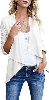 CHICFOR Womens Faux Suede Jacket Long Sleeve Open Front Lightweight Lapel Short Jacket