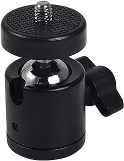 "SHOPEE Swivel Mini Ball Head 1/4"" Screw DSLR Camera Tripod Ballhead Stand Support (Pack of 2)"
