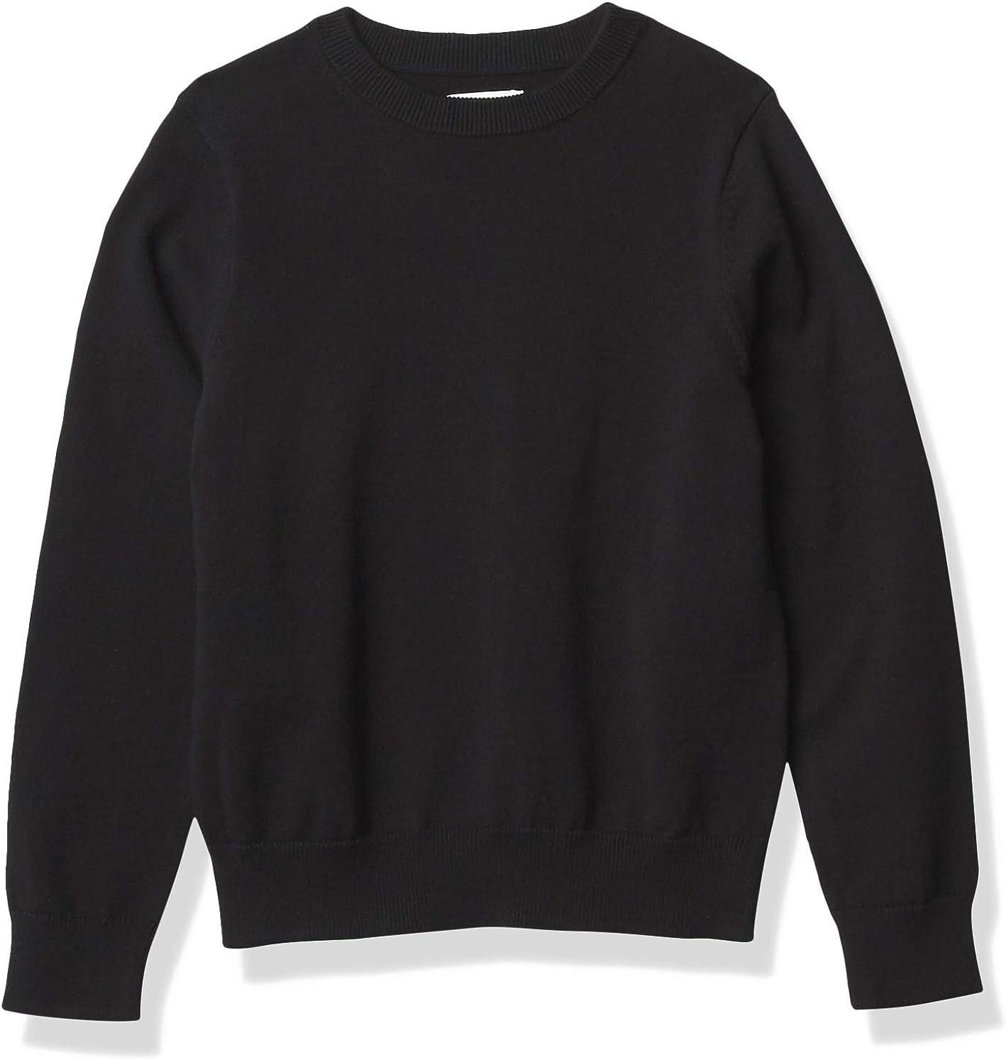 Amazon Essentials Boys' Uniform Cotton Crew-Neck Sweaters