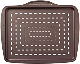 Pyrex Asimetria Non-stick, rectangular Pizza Pan, Brown, 37cm x 29cm