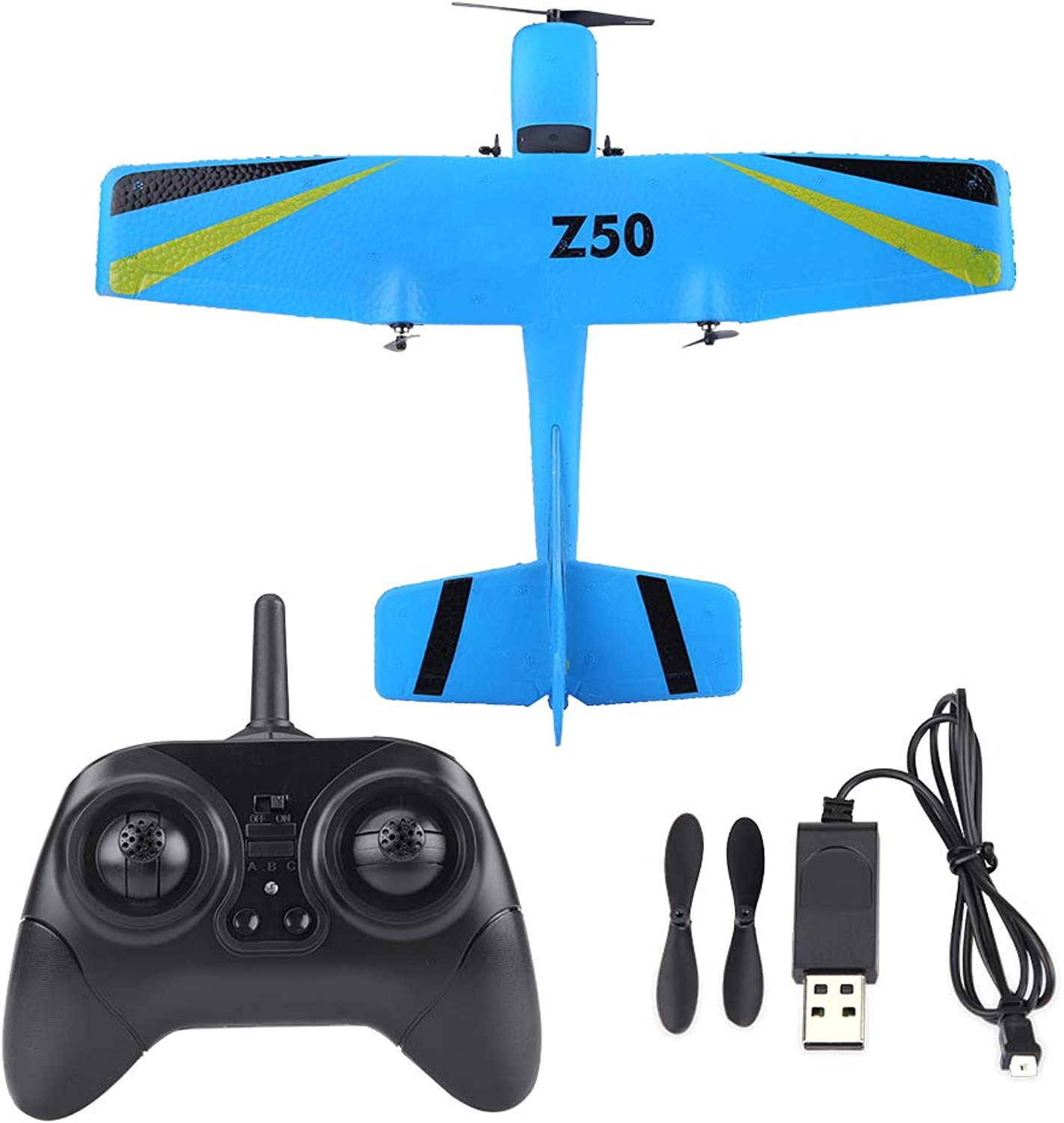 RC Airplane Toy, 2.4G ZC-Z50 Remote Control Plane Glider EPP Fixed Wing Remote Control Aircraft Model Toy(bluee)