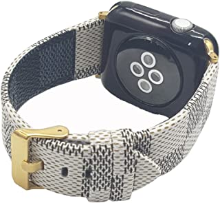 MeShow TCSHOW 38mm 40mm Tartan Plaid Style Replacement Strap Wrist Band with Metal Adapter Compatible for Apple Watch Series 4 3 2 1(Not fit for iWatch 42mm/44mm)
