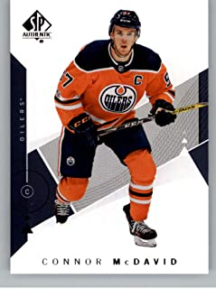 2018-19 SP Authentic Hockey #20 Connor McDavid Edmonton Oilers Official NHL Trading Card From Upper Deck (UD)