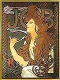 1art1 Alphonse Mucha Poster Reproduction et Cadre (Plastique) - Job, 1896 (80 x 60cm)