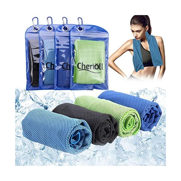 Cooling Towel, Ice Towel, Soft Breathable Chilly Towel, Microfiber Towel for Yoga, Sport, Running, Gym, Workout,Camping, Fitness & More Activities
